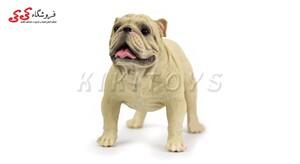 خرید اینترنتی فیگور سگ بولداگ کرمی رنگ Pet Bulldog Dog Model Animal
