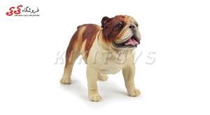 قیمت و خرید فیگور حیوانات سگ بولداگ قهوه ای Pet Bulldog Dog Model Animal