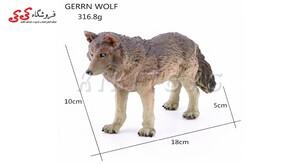 خریداینترنتی فیگور حیوانات گرگ سایز متوسط fiqure of wolf