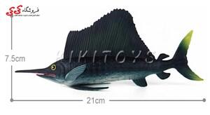قیمت و خرید فیگور حیوانات نیزه ماهی Sailboat Toy Model Animals