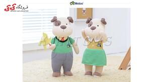 عروسک پولیشی جفت خانوم و اقای سگ-plush toys