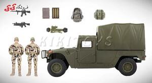 اسباب بازی ماکت جیپ نظامی  برند ام اندسی MILITARY CAMPSITE M C TOY