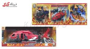 اسباب بازی ماکت هلیکوپتر آتشنشانی برند ام اندسی- MILITARY CAMPSITE M C TOY