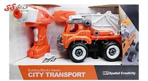 اسباب بازی کامیون با دریل برقی-DIY SPATIALCREATIVITY