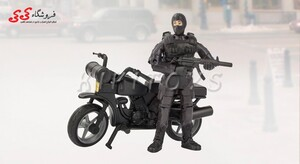 سرگرمی ماکت موتورسیکلت و سرباز با تجهیزات نظامی ام اند سی