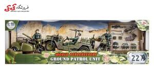 اسباب بازی ماکت جیپ نظامی با سرباز برند ام اندسی