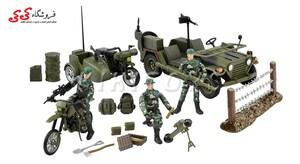 خرید انلاین جیپ نظامی با سرباز برند ام اندسی M C TOY