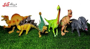 اسباب بازی باغ وحش دایناسور 6 عددی