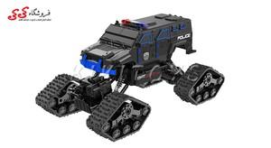 خرید اینترنتی اسباب بازی ماشین کنترلی آفرودی چرخ زنجیری-LEADER CAR