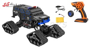 سفارش انلاین اسباب بازی ماشین کنترلی آفرودی چرخ زنجیری-LEADER CAR