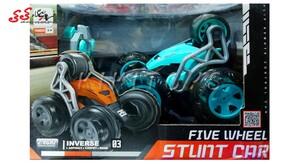 و خرید اسباب بازی ماشین دیوانه کنترلی 5 چرخ STUNT CAR
