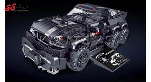ساختنی لگو ماشین مسابقه فول تقویت 6 چرخ برند دکول BRICK COOL KC004