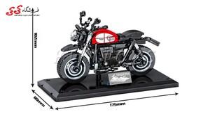اسباب بازی لگو ماکت موتور تریومف Triumph برند اس وای SEMBO BLOCK 701126