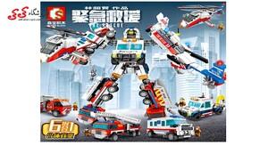 ساختنی لگو ماشین آتشنشانی تبدیل شونده SEMBO BLOCK 603202