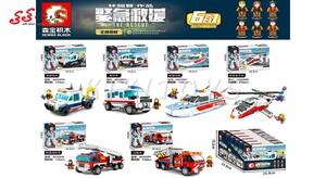 بازی فکری و سرگرمی لگو ماشین آتشنشانی تبدیل شونده SEMBO BLOCK 603202