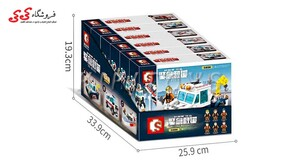 قیمت و خرید لگو ماشین آتشنشانی تبدیل شونده SEMBO BLOCK 603202