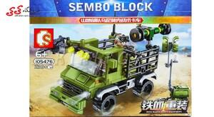 ساختنی لگو ماشین موشک انداز جنگی سمبو بلاک SEMBO BLOCK 105476