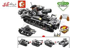 قیمت و خرید لگو تانک جنگی بزرگ ست ترکیبی 4 عددی سمبو بلاک SEMBO BLOCK