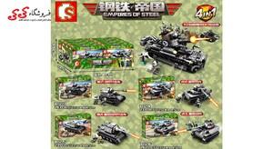 اسباب بازی لگو تانک جنگی بزرگ ست ترکیبی 4 عددی سمبو بلاک SEMBO BLOCK