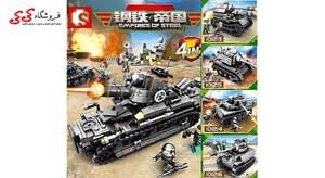 لگو تانک جنگی بزرگ ست ترکیبی 4 عددی سمبو بلاک SEMBO BLOCK
