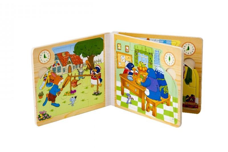 پازل 6 تایی چوبی مدل کتاب طرح کارهای روزانه