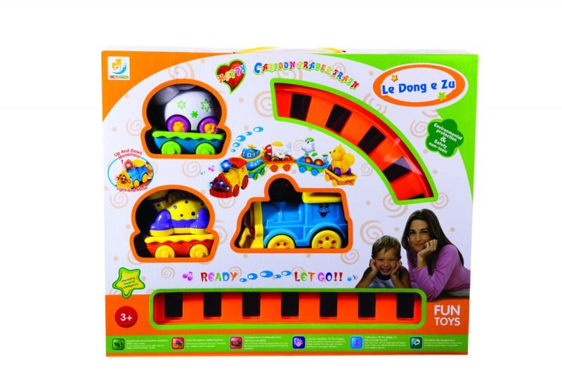 قطار اسباب بازی نشکن مدل سه واگن