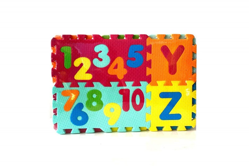 پازل فومی حروف و اعداد لاتین سایز متوسط
