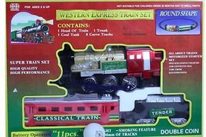قطار ریلی اسباب بازی سه تکه مدل کلاسیک