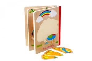 قیمت پازل چوبی کتابی 6 تایی طرح حیوانات جنگل wild animals puzzle