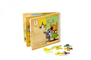 خرید پازل کتابی چوبی 11 قطعه