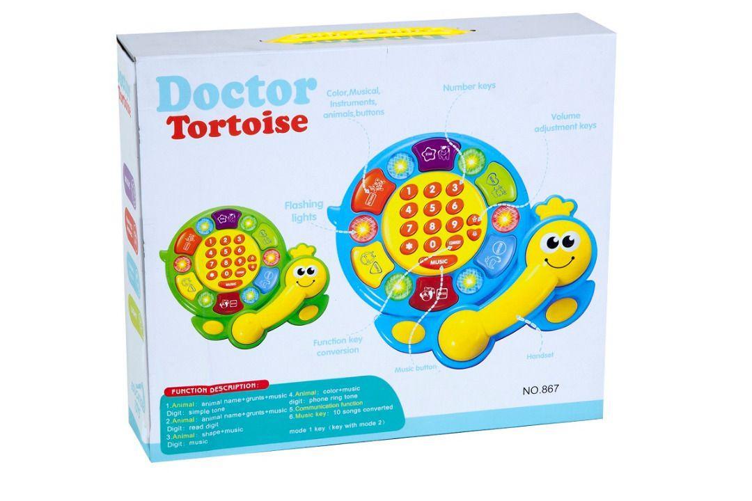 خرید تلفن اسباب بازی صدای حیوانات طرح لاکپشت turtle toy phone