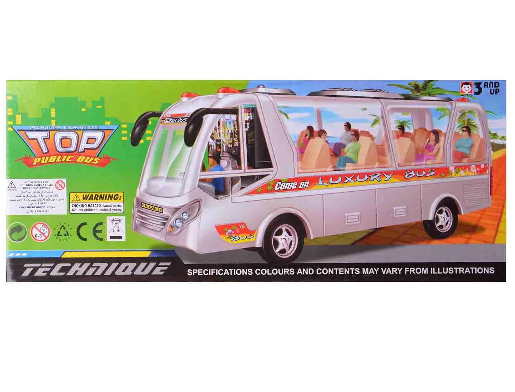 اتوبوس اسباب بازی موزیکال-حرکتی مدل 2609