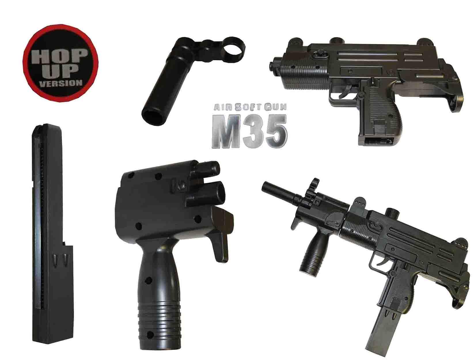 خرید تفنگ یوزی تیر پرتابی ساچمه ای مدل gun-m35