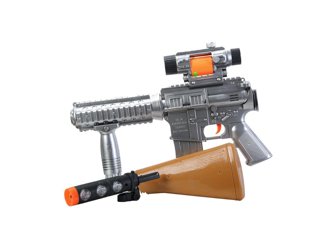 تفنگ موزیکال اسباب بازی پسرانه مدل ام 16