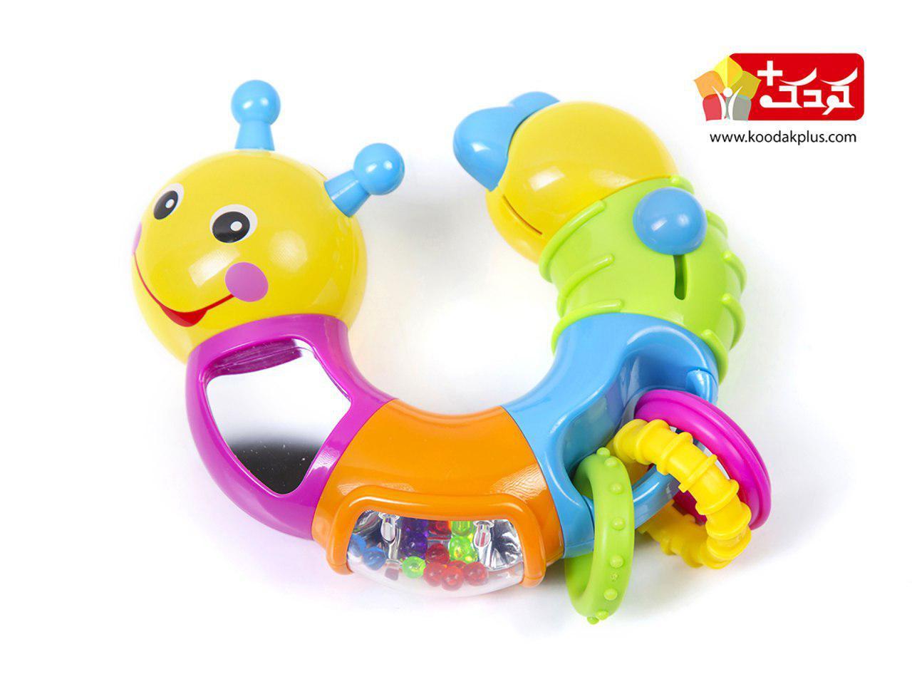 جغجغه نشکن هولی تویز مدل کرم موزیکالlovely worm-736B