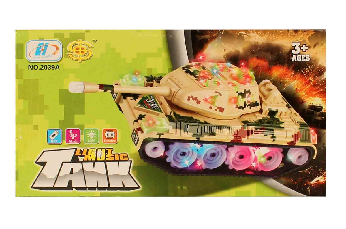 تانک موزیکال حرکتی اسباب بازی مدل 2039
