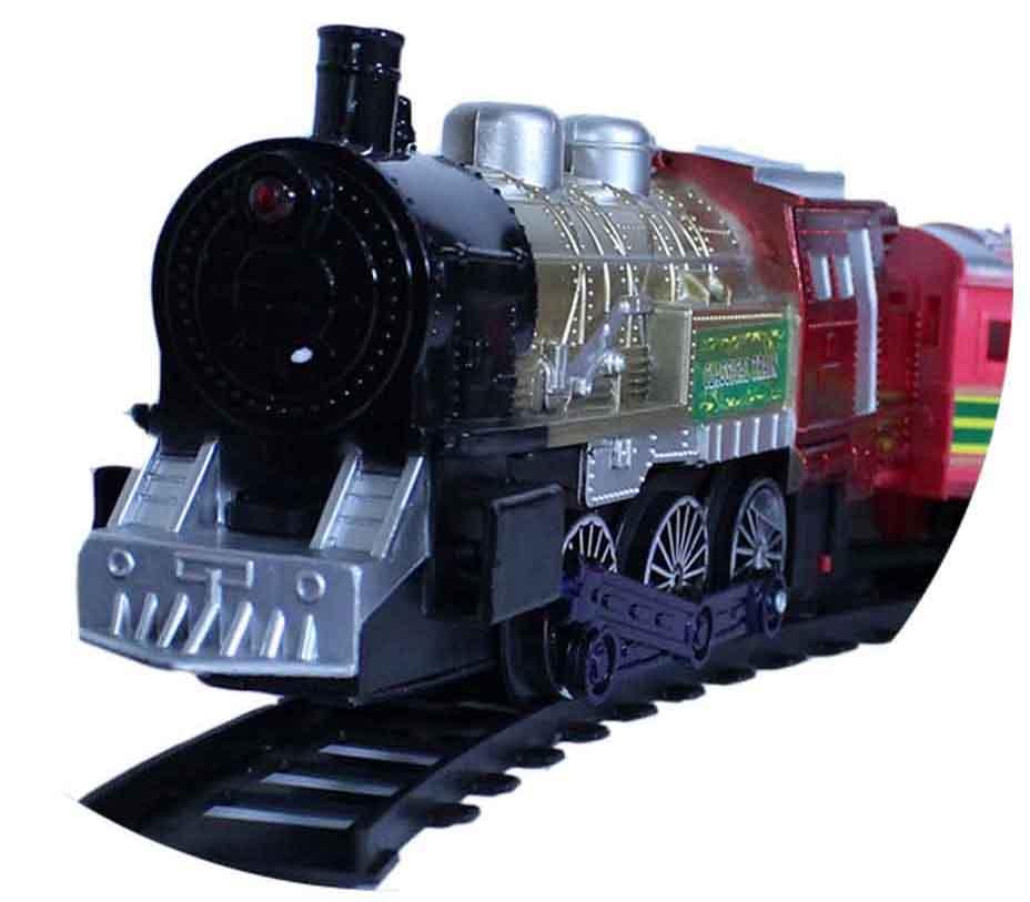 قطار ریلی سه واگن همراه با مخزن زغال سنگ طرح کلاسیک