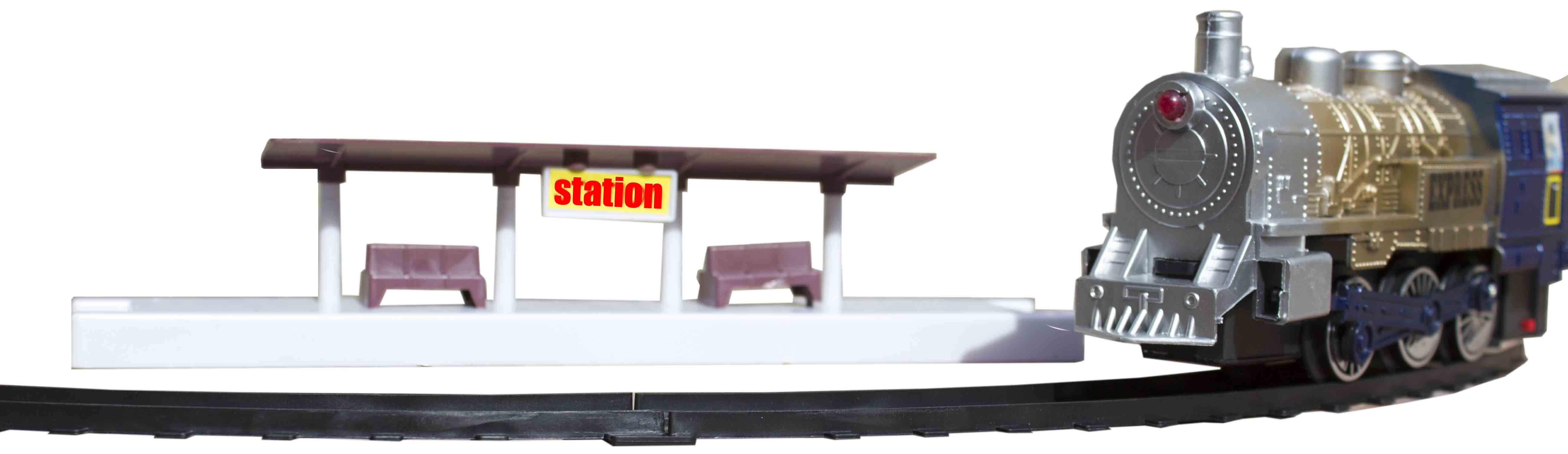 قطار ریلی باطری خور دود کن همراه با ایستگاه