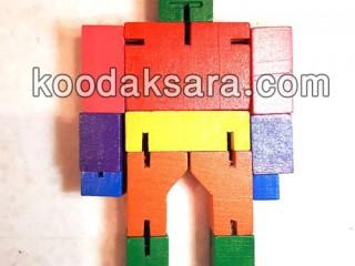 اسباب بازی چوبی آدمک