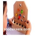 اسباب بازی چوبی دورنگی