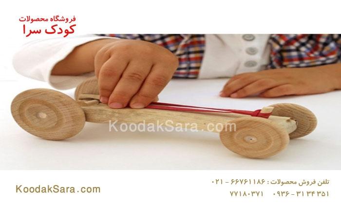 اسباب بازی چوبی ماشین