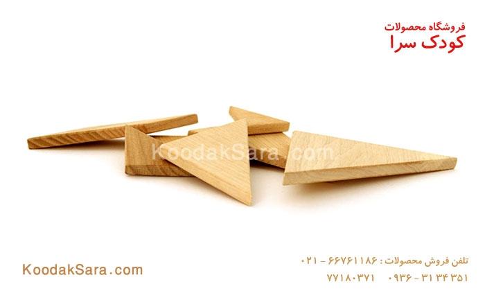 اسباب بازی چوبی تنگرام ساده