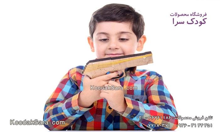 اسباب بازی چوبی تفنگ