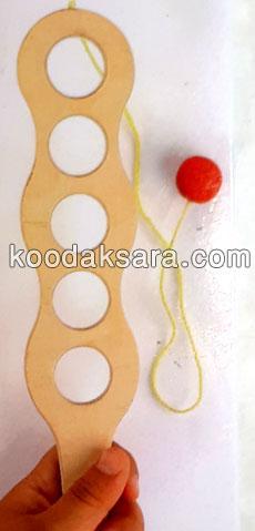 اسباب بازی چوبی توپک