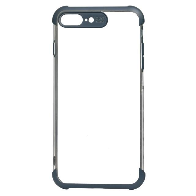قاب گوشی اپل iPhone 7/8 Plus شفاف دور رنگی مدل DUO