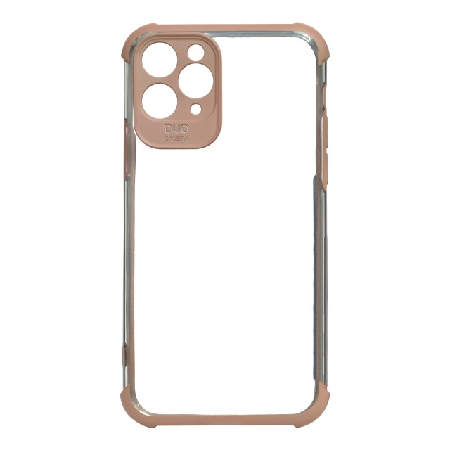 قاب گوشی اپل iPhone 11 Pro شفاف دور رنگی مدل DUO