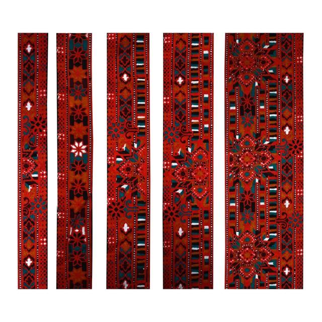 پارچه سوزن دوزی نواری مجموعه 7 عددی مدل NVR-01