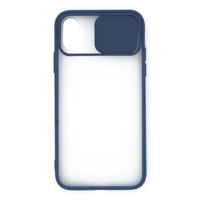 قاب گوشی اپل iPhone X /XS پشت مات کشویی محافظ لنز مدل K-MLNZ
