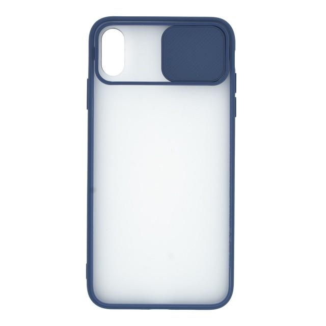 قاب گوشی اپل iPhone XS Max پشت مات کشویی محافظ لنز مدل K-MLNZ