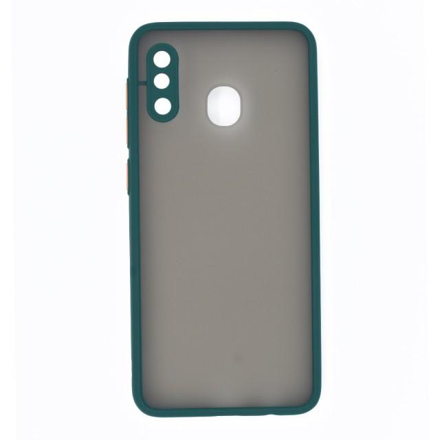 قاب گوشی سامسونگ Galaxy A30 پشت مات محافظ لنز دار مدل M-LNZ